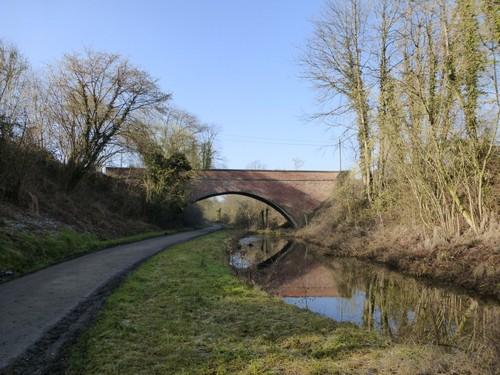 Borgloon, Kerniel, Spoorwegbrug nabij de abdij van Kolen.