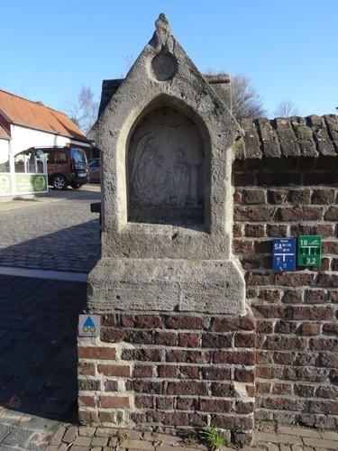 Zingem Kloosterstraat Ommegangkapel Statie 1 De boodschap