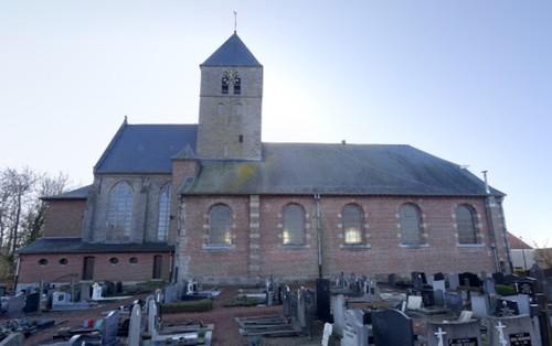 Wortegem-Petegem Elsegemplein zonder nummer Sint-Mauruskerk noordkant