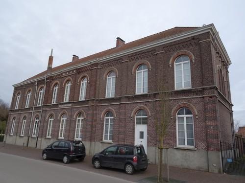 Zulte Dorpsstraat 42 Zuidoostzijde van de gemeenteschool