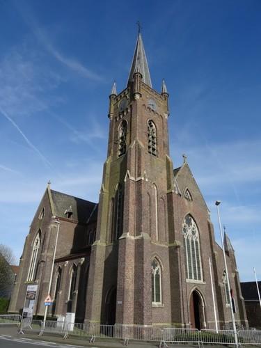 Avelgem Brugstraat zonder nummer Westzijde van de Sint-Amanduskerk