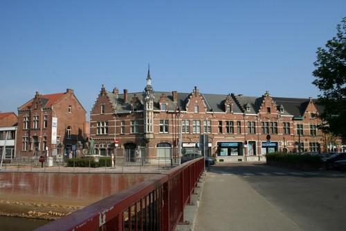 Aarschot Amerstraat 1-5 en Bogaardenstraat 2-8 Straatbeeld