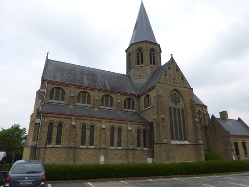 Ieper Wielewaalstraat kerk