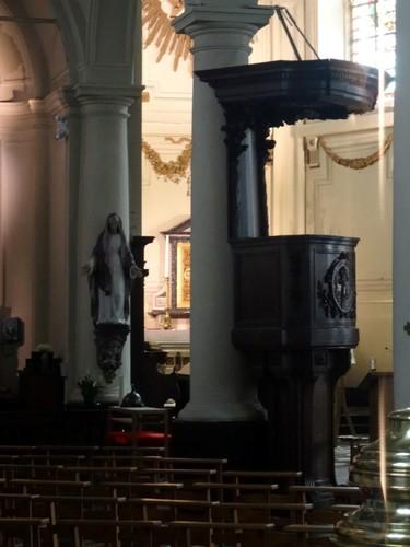 Zwevegem Otegemplaats zonder nummer Preekstoel van de parochiekerk Sint-Amandus en Sint-Anna