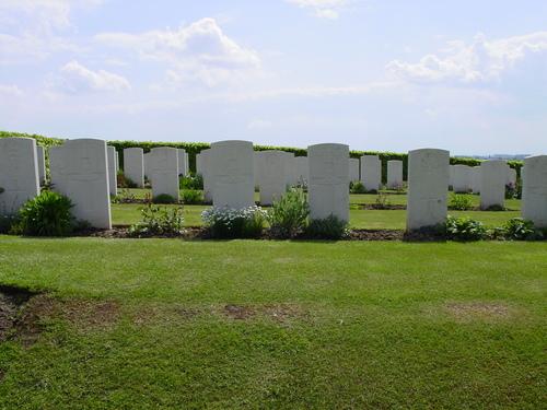Nieuwkerke: Westhof Farm Cemetery: grafstenen