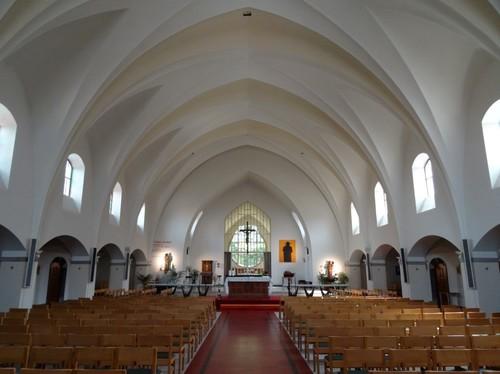 Kortrijk Aalbeeksesteenweg 13 Interieur van de kloosterkerk