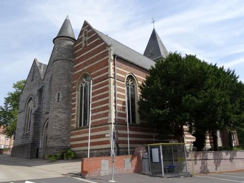 Zwevegem Kerkeberg zonder nummer Sint-Dionysius en Sint-Genesiuskerk zuidwestzijde
