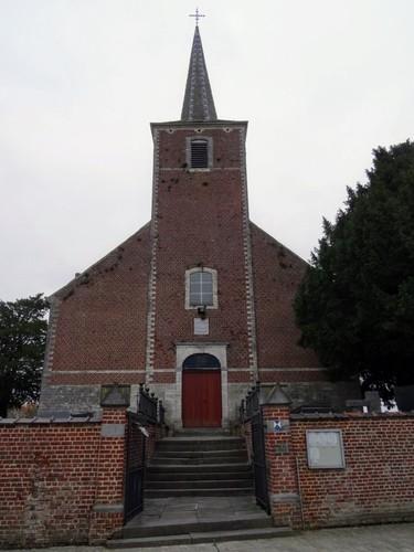 Bierbeek Hoegaardsesteenweg zonder nummer Westzijde van de Sint-Antonius Abtkerk