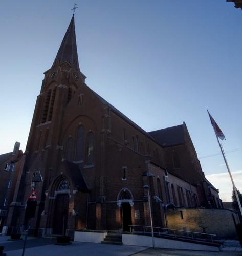 Menen Lauweplaats zonder nummer Sint-Bavokerk noordwestzijde