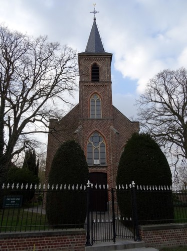 Horebeke Korsele 39 Nieuwe protestantse kerk zuidoostzijde