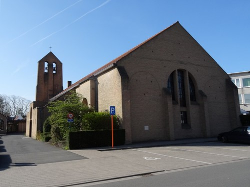 Brugge Sint-Andries Sint-Willibrorduskerk zuidoostzijde