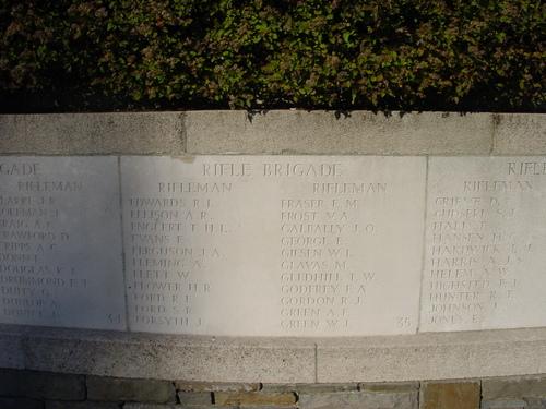 Mesen: New Zealand Memorial: namen