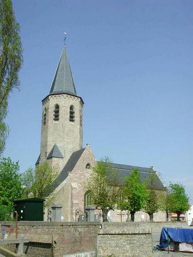 Zuienkerke Dorpweg zonder mummer  Onze-Lieve-Vrouw Hemelvaartkerk
