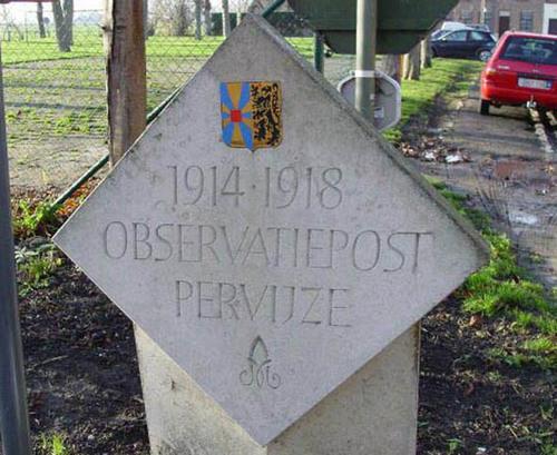 Diksmuide Pervijze Kastanjeplein zonder nummer naamsteen bij observatiepost