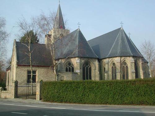 Diksmuide Schoorbakkestraat zonder nummer parochiekerk