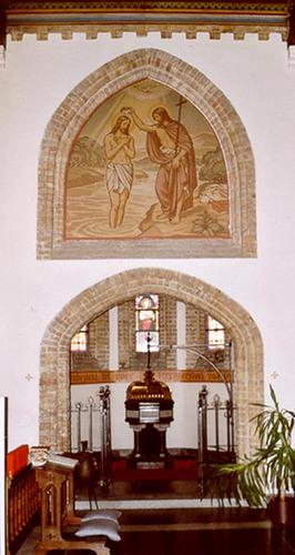 Diksmuide Schoorbakkestraat zonder nummer parochiekerk interieur