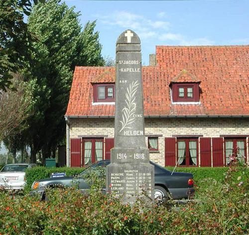 Diksmuide Sint-Jacobskapelle Sint-Jacobsplein zonder nummer oorlogsgedenkteken