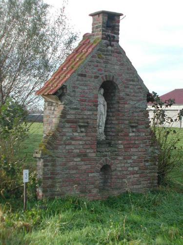 Damme Veldhoekstraat zonder nummer kapel