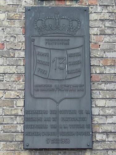 Houthulst Merkem Kouterstraat zonder nummer 13e linie