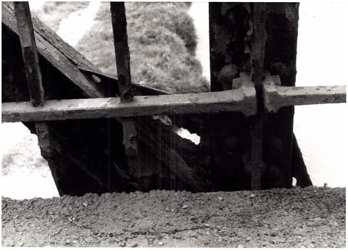 IJzeren voetgangersbrug over de Dender