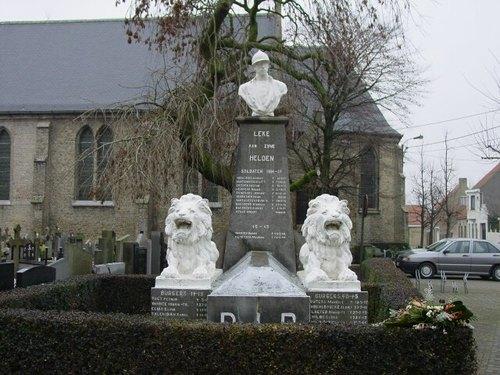 Diksmuide Leke Kerkomgangstraat zonder nummer gedenkteken