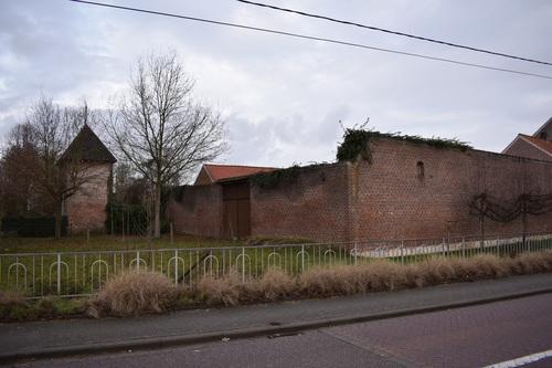 Zoutleeuw Terweidenstraat 33 westvleugel muur