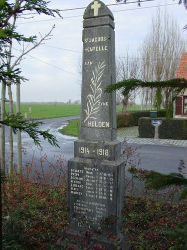 Sint-Jacobskapelle: gedenkzuil