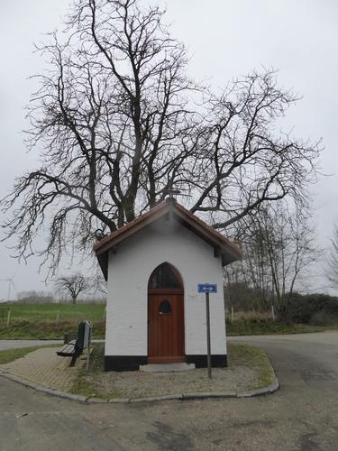 Heilige Kruis kapel met witte kastanje