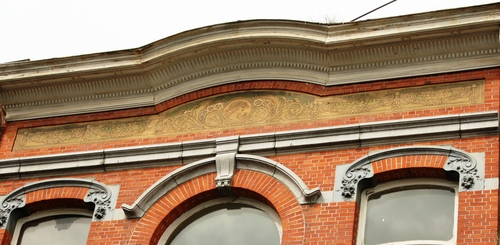 Turnhout Patersstraat 55 detail sgraffito 2