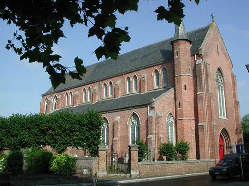 Jabbeke Kerkeweg 1 neogotische kerk