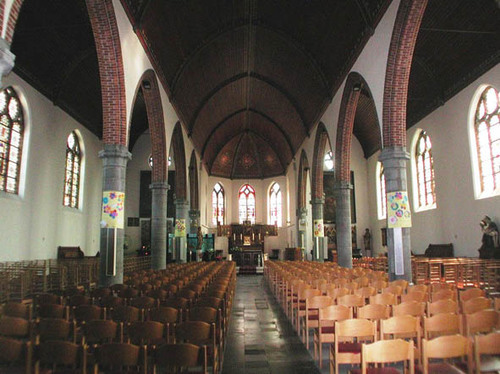 Jabbeke Oude Dorpsweg 75 Interieur van de kerk
